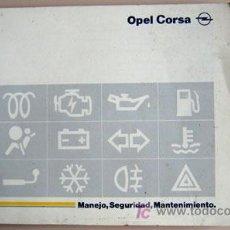 Coches y Motocicletas: OPEL CORSA - 1995 - TODA LA GAMA - MANUAL INSTRUCCIONES USUARIO, TEXTO EN ESPAÑOL. . Lote 13695369