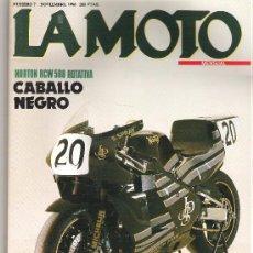Coches y Motocicletas: LA MOTO. Nº 7 NOVIEMBRE 1990. NORTON RCW 588 ROTATIVA. BMW K 100 RS 16 V. HONDA ST 1100.SUZUKI GSX *. Lote 12566860