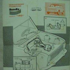 Coches y Motocicletas: + SEAT 124 PUBLICIDAD SISTEMA BENDIX. HACIA 1970. Lote 27578586