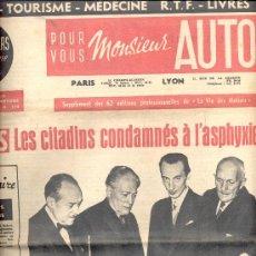 Coches y Motocicletas: DIARIO POUR VOUS MONSIEUR AUTO 1960. Lote 12270297