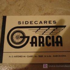 Coches y Motocicletas: SIDECARES GARCIA.. Lote 173029343