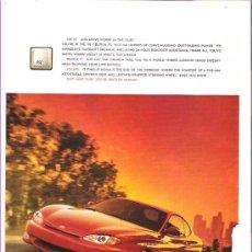 Coches y Motocicletas: HYUNDAI TIBURON (HYUNDAI COUPE): ANUNCIO PUBLICITARIO 1998. Lote 105385975
