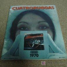 Coches y Motocicletas: CUATRORUEDAS ENE 1970, CITROEN M-35, SEAT 600 D, SEAT 124 SPORT 1600, MOTO BMW 1970.. Lote 17903007