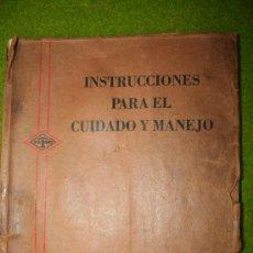 Coches y Motocicletas: INSTRUCCIONES PARA EL CUIDADO Y MANEJO DE LOS AUTOCAMIONES DIAMOND T. Lote 27022817