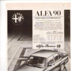 Coches y Motocicletas: ALFA ROMEO 90: ANUNCIO PUBLICITARIO. Lote 11439077