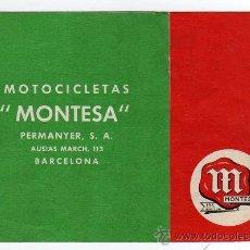 Coches y Motocicletas: CATALOGO MOTOCICLETAS MONTESA, MODELO BRIO 90 DE 125 C.C. , DESPLEGABLE. Lote 13410254