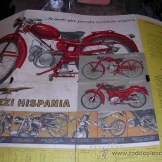 Coches y Motocicletas: CATALOGO MOTO GUZZI HISPANIA , DESPLEGABLE. Lote 17656118