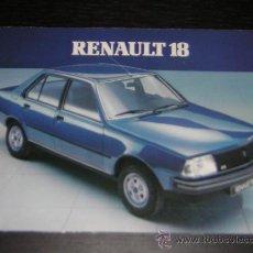 Coches y Motocicletas: RENAULT 18 - CATALOGO PUBLICIDAD ORIGINAL - ALEMAN. Lote 11795539