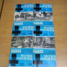 Coches y Motocicletas: REVISTA TECNICA MECANICA, NUMEROS 150 A 160,1971-1972,EDITORIAL CEAC, SUELTOS A 3,00€. Lote 11877400