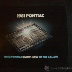 Coches y Motocicletas: PONTIAC GAMA 1981, CATALOGO COMERCIAL-BROCHURE. Lote 122924576