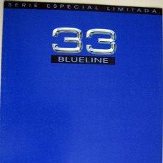 Coches y Motocicletas: ALFA ROMEO 33 BLUELINE, CATALOGO PUBLICIDAD ORIGINAL . Lote 26288675