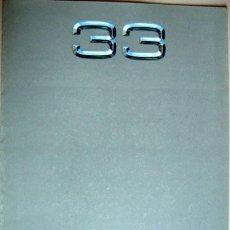 Coches y Motocicletas: ALFA ROMEO 33, CATALOGO PUBLICIDAD ORIGINAL . Lote 26288676