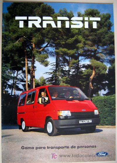 FORD TRANSIT - TODA LA GAMA, CATALOGO PUBLICIDAD ORIGINAL (Coches y Motocicletas Antiguas y Clásicas - Catálogos, Publicidad y Libros de mecánica)