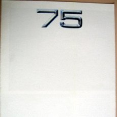 Coches y Motocicletas: ALFA ROMEO 75, CATALOGO PUBLICIDAD ORIGINAL . Lote 100616148