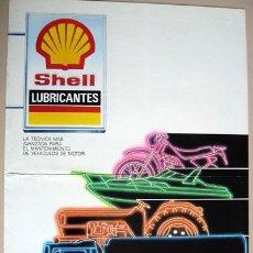 Coches y Motocicletas: LUBRICANTES SHELL - HELIX, MULTIGRADO, MYRINA, RIMULA X, RETINAX, CATALOGO PUBLICIDAD ORIGINAL . Lote 27595826