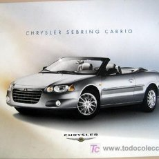 Coches y Motocicletas: CHRYSLER SEBRING CABRIO - CATALOGO PUBLICIDAD ORIGINAL . Lote 26496539
