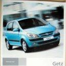 Coches y Motocicletas: HYUNDAI GETZ - 2006 - CATALOGO PUBLICIDAD ORIGINAL . Lote 26232237