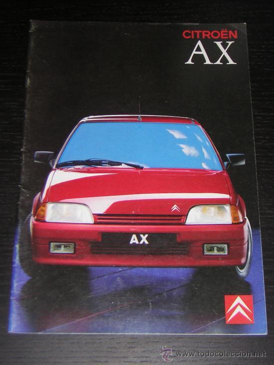 CITROEN AX - CATALOGO PUBLICIDAD ORIGINAL - 1989 - ESPAÑOL (Coches y Motocicletas Antiguas y Clásicas - Catálogos, Publicidad y Libros de mecánica)