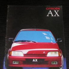 Coches y Motocicletas: CITROEN AX - CATALOGO PUBLICIDAD ORIGINAL - 1989 - ESPAÑOL. Lote 11951291