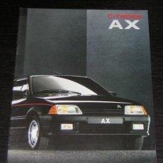 Coches y Motocicletas: CITROEN AX - CATALOGO PUBLICIDAD ORIGINAL - 1991 - ESPAÑOL. Lote 11951333