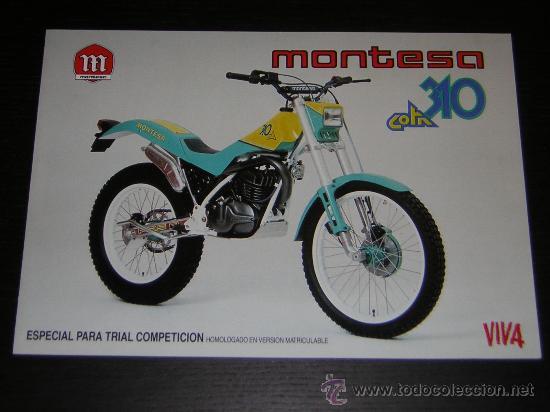 MONTESA COTA 310 - CATALOGO PUBLICIDAD ORIGINAL - 1989 - ESPAÑOL / INGLES (Coches y Motocicletas Antiguas y Clásicas - Catálogos, Publicidad y Libros de mecánica)