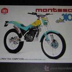 Coches y Motocicletas: MONTESA COTA 310 - CATALOGO PUBLICIDAD ORIGINAL - 1989 - ESPAÑOL / INGLES. Lote 17158557