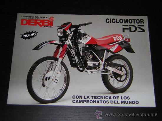 Derbi fds 50 catalogo folleto publicidad orig comprar for Catalogo derbi