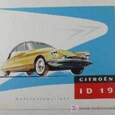 Autos und Motorräder - CITROËN ID 19. 22 X 27 CM. CATÁLOGO DESPLEGABLE - 12044898