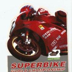 Coches y Motocicletas: QUEX PEGATINAS MOTOS - PEGATINA DUCATI SUPERBIKE- STICKER MOTOCICLISMO. Lote 27575284