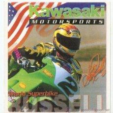 Coches y Motocicletas: QUEX 1 EURO PEGATINAS MOTOS - PEGATINA KAWASAKI SUPERBIKE - STICKER MOTOCICLISMO KAWASAKI. Lote 27575272