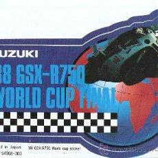 Coches y Motocicletas: QUEX PEGATINAS MOTOS - PEGATINA - STICKER MOTOCICLISMO SUZUKI WORLD CUP. Lote 27575275