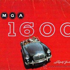 Coches y Motocicletas: CATALOGO COCHE MG 1600. Lote 12086272