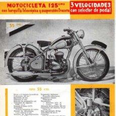 Coches y Motocicletas: FOLLETO PUBLICITARIO MOTOCILCETA PEUGEOT 125 CM . Lote 12150735