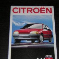 Coches y Motocicletas: CITROEN AX - CATALOGO PUBLICIDAD ORIGINAL - 1988 - FRANCES. Lote 12437413