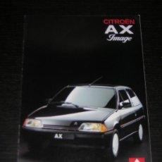 Coches y Motocicletas: CITROEN AX IMAGE - CATALOGO PUBLICIDAD ORIGINAL - 1990 - FRANCES. Lote 12437497