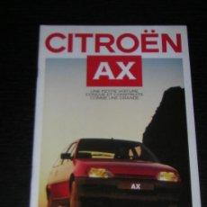 Coches y Motocicletas: CITROEN AX - CATALOGO PUBLICIDAD ORIGINAL - 1987 - SUIZA. Lote 12437524