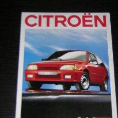 Coches y Motocicletas: CITROEN AX - CATALOGO PUBLICIDAD ORIGINAL - 1988 - FRANCES. Lote 12437583