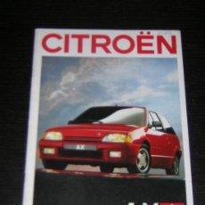 Coches y Motocicletas: CITROEN AX - CATALOGO PUBLICIDAD ORIGINAL - 1988 - SUIZA. Lote 12437638