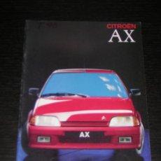 Coches y Motocicletas: CITROEN AX - CATALOGO PUBLICIDAD ORIGINAL - 1989 - ITALIANO. Lote 12437658