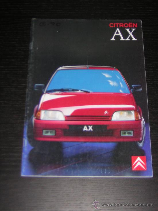 CITROEN AX - CATALOGO PUBLICIDAD ORIGINAL - 1989 - SUIZA (Coches y Motocicletas Antiguas y Clásicas - Catálogos, Publicidad y Libros de mecánica)