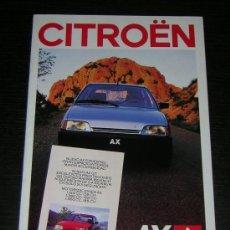 Coches y Motocicletas: CITROEN AX - CATALOGO PUBLICIDAD ORIGINAL - 1987 - ESPAÑOL. Lote 12437712