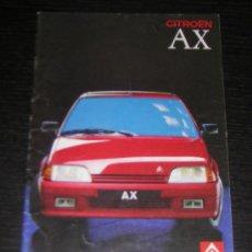 Coches y Motocicletas: CITROEN AX - CATALOGO PUBLICIDAD ORIGINAL - 1989 - ESPAÑOL. Lote 12437764