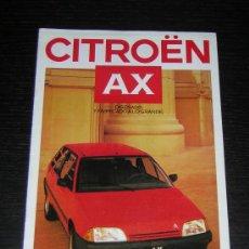 Coches y Motocicletas: CITROEN AX - CATALOGO PUBLICIDAD ORIGINAL - 1987 - ESPAÑOL. Lote 12437784