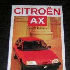 Coches y Motocicletas: CITROEN AX - CATALOGO PUBLICIDAD ORIGINAL - 1987 - ESPAÑOL. Lote 12437823