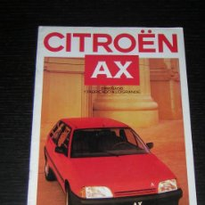 Coches y Motocicletas: CITROEN AX - CATALOGO PUBLICIDAD ORIGINAL - 1987 - ESPAÑOL. Lote 12437838