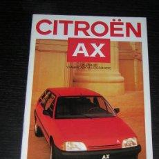 Coches y Motocicletas: CITROEN AX - CATALOGO PUBLICIDAD ORIGINAL - 1987 - ESPAÑOL. Lote 12437858