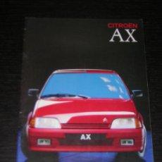 Coches y Motocicletas: CITROEN AX - CATALOGO PUBLICIDAD ORIGINAL - 1989 - ESPAÑOL. Lote 12438182