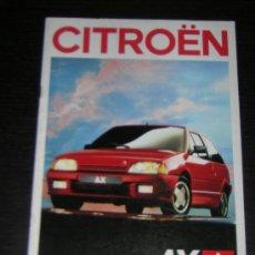 Coches y Motocicletas: CITROEN AX - CATALOGO PUBLICIDAD ORIGINAL - 1989 - ESPAÑOL. Lote 30111163