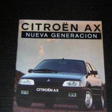 Coches y Motocicletas: CITROEN AX - CATALOGO PUBLICIDAD ORIGINAL - 1991 - ESPAÑOL. Lote 12438408