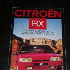 Coches y Motocicletas: CITROEN BX - CATALOGO PUBLICIDAD ORIGINAL - 1986 - ESPAÑOL. Lote 12442759